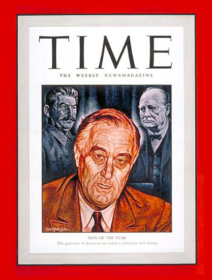 1942-01 Franklin D Roosevelt Copyright Time Magazine | Time Magazine Covers 1923-1970