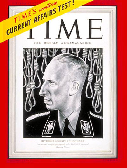 1942-02 Reinhard Heydrick Copyright Time Magazine | Time Magazine Covers 1923-1970