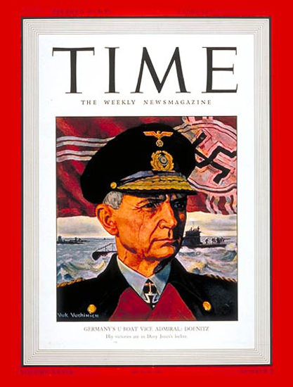 1942-02 Vice-Admiral Doenitz Copyright Time Magazine | Time Magazine Covers 1923-1970