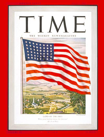1942-07 The American Flag Copyright Time Magazine | Time Magazine Covers 1923-1970