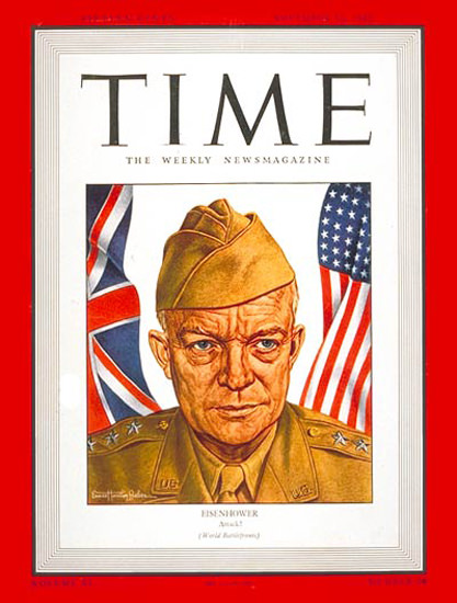 1942-11 Lt General Dwight Eisenhower Copyright Time Magazine | Time Magazine Covers 1923-1970