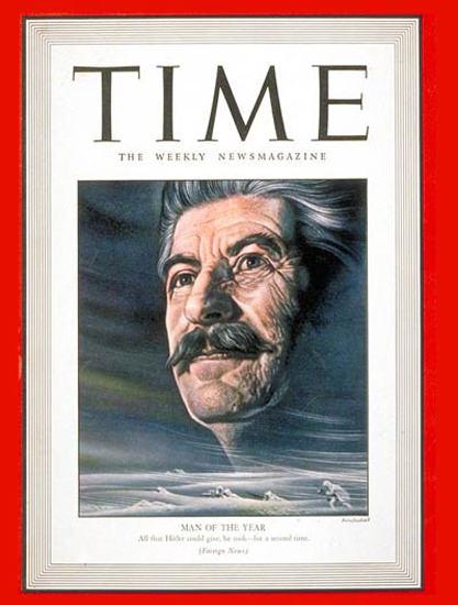 1943-01 Joseph Stalin Copyright Time Magazine | Time Magazine Covers 1923-1970