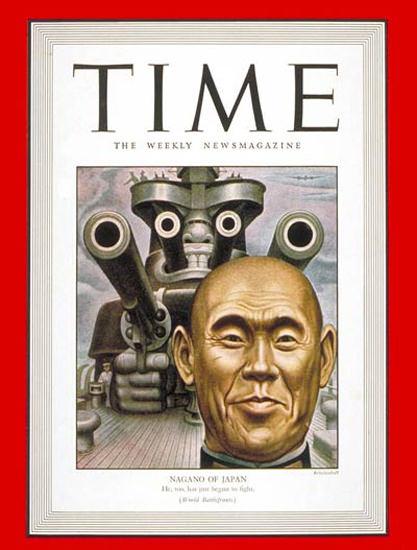 1943-02 Osami Nagano Copyright Time Magazine | Time Magazine Covers 1923-1970