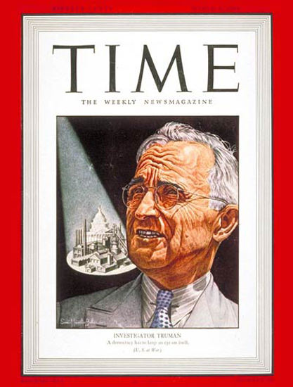 1943-03 Harry S Truman Copyright Time Magazine | Time Magazine Covers 1923-1970