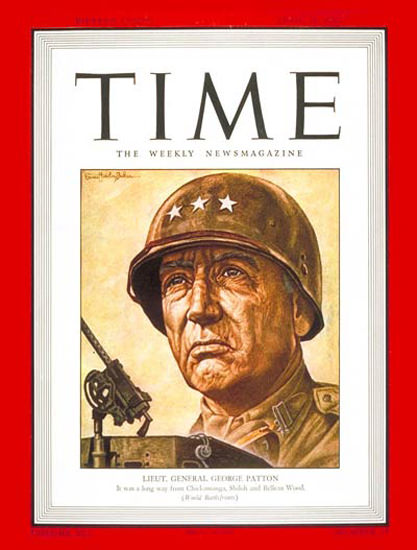 1943-04 Lt General George Patton Copyright Time Magazine | Time Magazine Covers 1923-1970