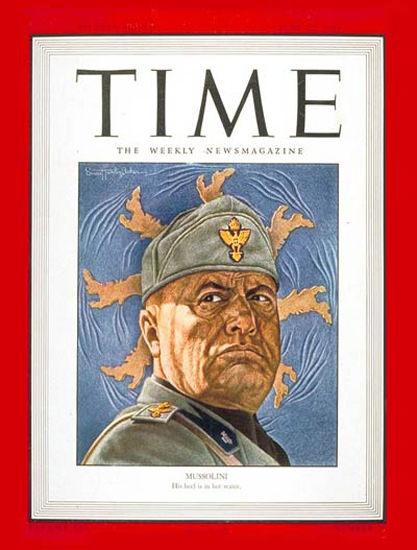 1943-06 Benito Mussolini Copyright Time Magazine | Time Magazine Covers 1923-1970