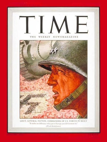 1943-07 Lt General George Patton Copyright Time Magazine | Time Magazine Covers 1923-1970