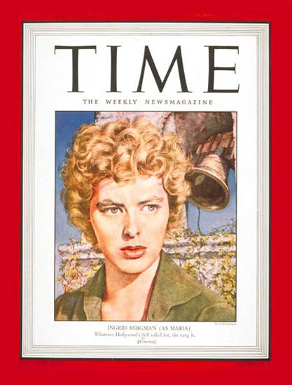 1943-08 Ingrid Bergman Copyright Time Magazine | Time Magazine Covers 1923-1970