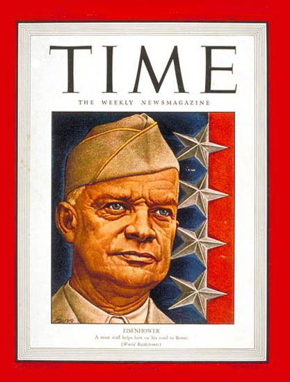1943-09 Dwight D Eisenhower Copyright Time Magazine | Time Magazine Covers 1923-1970