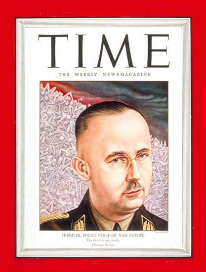 1943-10 Heinrich Himmler Copyright Time Magazine | Time Magazine Covers 1923-1970
