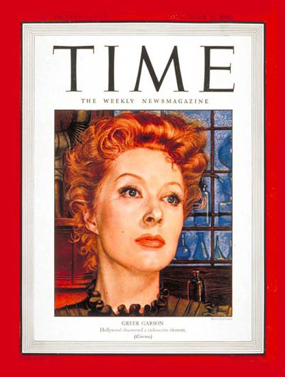 1943-12 Greer Garson Copyright Time Magazine | Time Magazine Covers 1923-1970