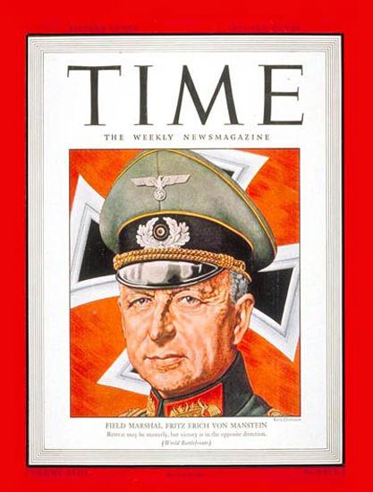 1944-01 Fritz von Manstein Copyright Time Magazine | Time Magazine Covers 1923-1970