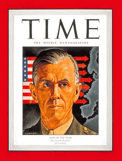 1944-01 General George Marshall Copyright Time Magazine | Time Magazine Covers 1923-1970