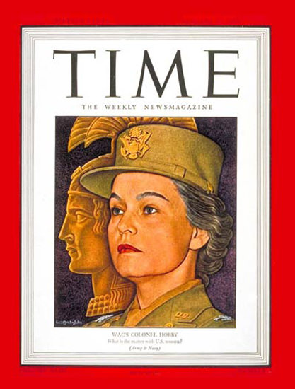 1944-01 Oveta Culp Hobby Copyright Time Magazine | Time Magazine Covers 1923-1970