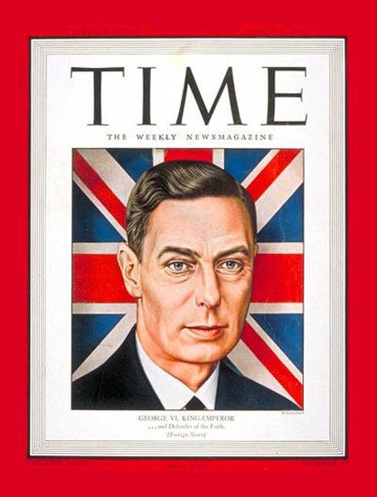 1944-02 King George VI Copyright Time Magazine | Time Magazine Covers 1923-1970