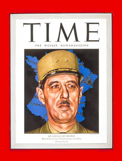 1944-05 Charles DeGaulle Copyright Time Magazine | Time Magazine Covers 1923-1970