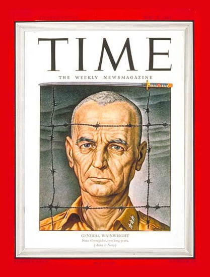 1944-05 Lt General Wainwright Copyright Time Magazine | Time Magazine Covers 1923-1970
