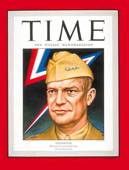 1944-06 General Dwight Eisenhower Copyright Time Magazine | Time Magazine Covers 1923-1970