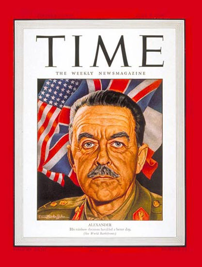 1944-06 Sir Harold Alexander Copyright Time Magazine | Time Magazine Covers 1923-1970