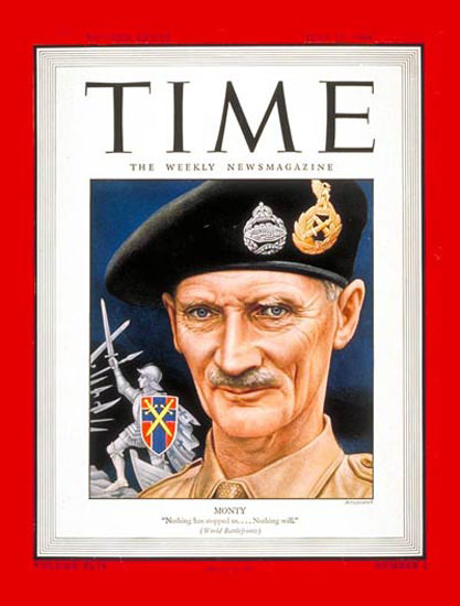 1944-07 General Montgomery Copyright Time Magazine | Time Magazine Covers 1923-1970