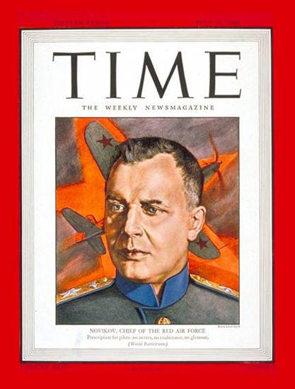 1944-07 Marshal Novikov Copyright Time Magazine | Time Magazine Covers 1923-1970
