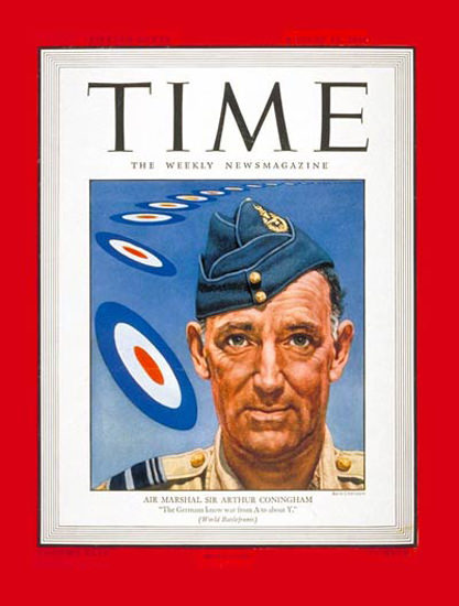 1944-08 Sir Arthur Coningham Copyright Time Magazine | Time Magazine Covers 1923-1970