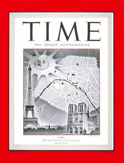 1944-09 Paris Copyright Time Magazine | Time Magazine Covers 1923-1970