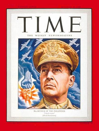 1944-10 General Douglas MacArthur Copyright Time Magazine | Time Magazine Covers 1923-1970