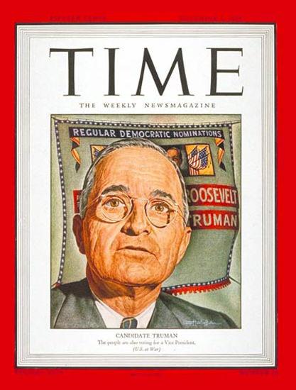 1944-11 Harry S Truman Copyright Time Magazine | Time Magazine Covers 1923-1970