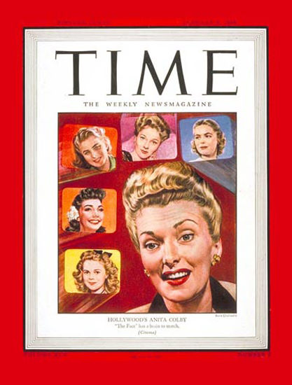 1945-01 Anita Colby Copyright Time Magazine | Time Magazine Covers 1923-1970