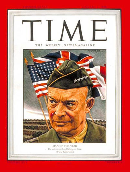 1945-01 General Dwight Eisenhower Copyright Time Magazine | Time Magazine Covers 1923-1970