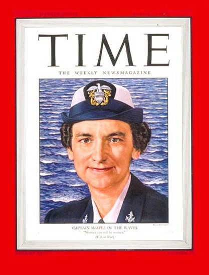 1945-03 Captain Mildred McAfee Copyright Time Magazine | Time Magazine Covers 1923-1970