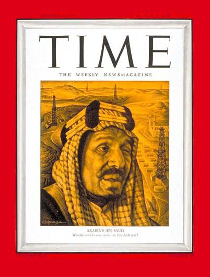 1945-03 King Ibn Saud Copyright Time Magazine | Time Magazine Covers 1923-1970