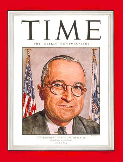 1945-04 Harry S Truman Copyright Time Magazine | Time Magazine Covers 1923-1970
