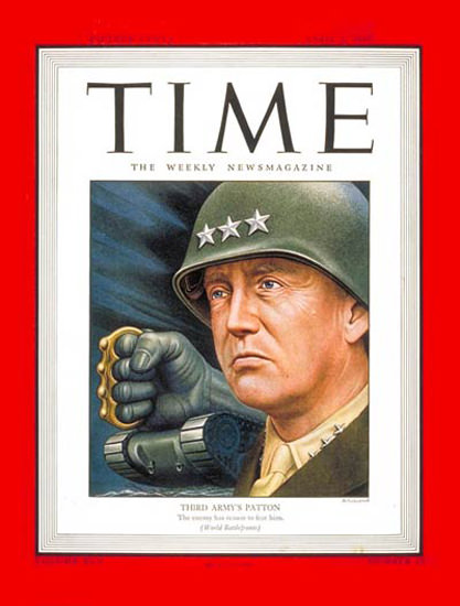 1945-04 Lt General Patton Copyright Time Magazine | Time Magazine Covers 1923-1970