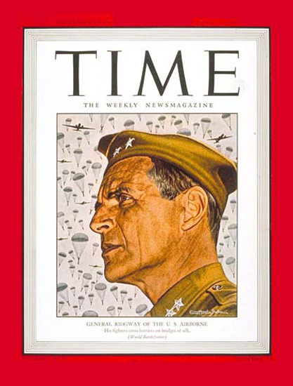 1945-04 Major General Ridgway Copyright Time Magazine | Time Magazine Covers 1923-1970