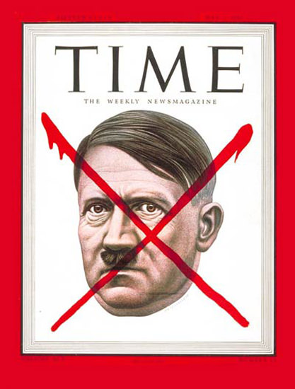 1945-05 Adolf Hitler Copyright Time Magazine | Time Magazine Covers 1923-1970