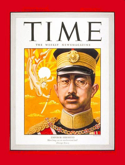 1945-05 Emperor Hirohito Copyright Time Magazine | Time Magazine Covers 1923-1970