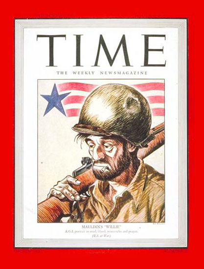 1945-06 Mauldins Willie Copyright Time Magazine | Time Magazine Covers 1923-1970