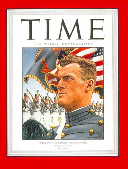 1945-06 West Pointer Woods Copyright Time Magazine | Time Magazine Covers 1923-1970
