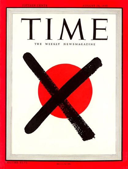 1945-08 Fall of Japan Copyright Time Magazine | Time Magazine Covers 1923-1970