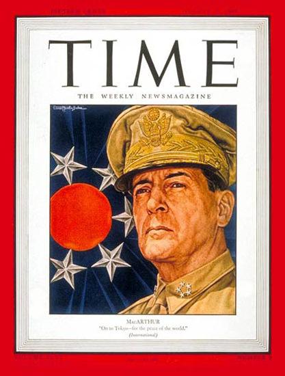 1945-08 General Douglas MacArthur Copyright Time Magazine | Time Magazine Covers 1923-1970