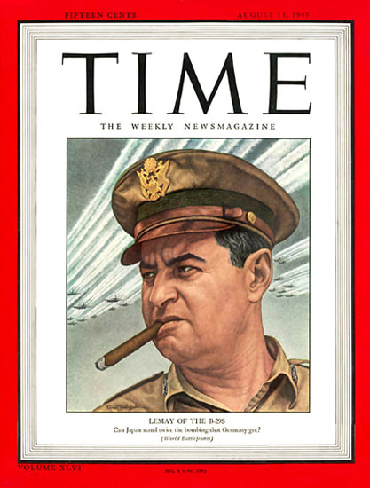 1945-08 Major General Curtis LeMay Copyright Time Magazine | Time Magazine Covers 1923-1970
