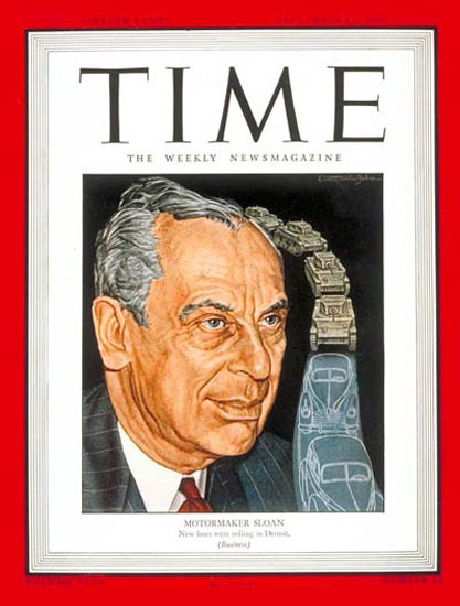 1945-09 Alfred P Sloan Copyright Time Magazine | Time Magazine Covers 1923-1970