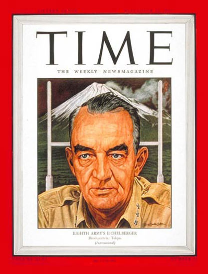 1945-09 Lt General Eichelberger Copyright Time Magazine | Time Magazine Covers 1923-1970