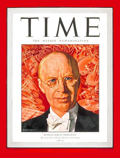 1945-11 Sergei Prokofiev Copyright Time Magazine | Time Magazine Covers 1923-1970