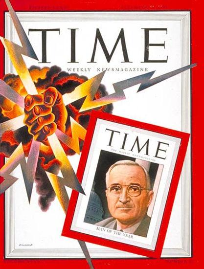 1945-12 Harry S Truman Copyright Time Magazine | Time Magazine Covers 1923-1970