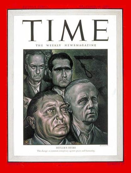 1945-12 Nurnberg Trials Copyright Time Magazine | Time Magazine Covers 1923-1970