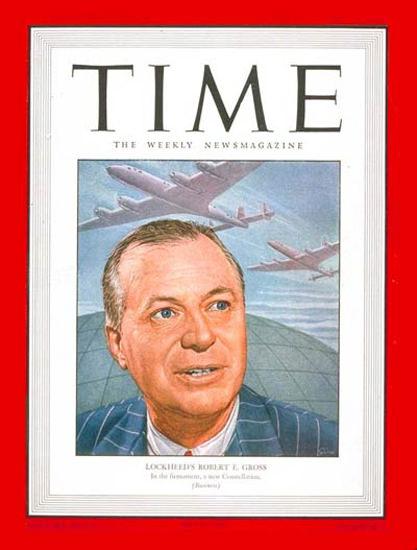 1946-01 Robert E Gross Copyright Time Magazine | Time Magazine Covers 1923-1970