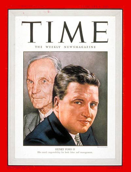 1946-02 Henry Ford II Copyright Time Magazine | Time Magazine Covers 1923-1970